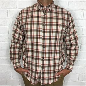 3/$30 St Johns bay button down flannel Large